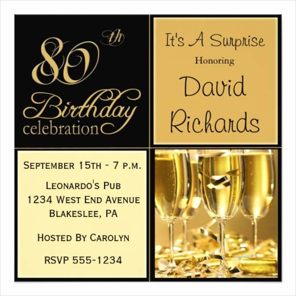 Surprise Birthday Party Invitation Template Lovely 36 Lunch Invitation Designs & Templates Psd Ai