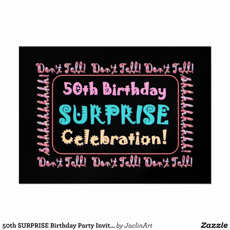 Surprise Birthday Party Invitation Template New 50th Birthday Surprise Party Invitations