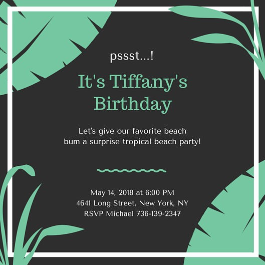 Surprise Birthday Party Invitation Template New Surprise Party Invitation Templates Canva