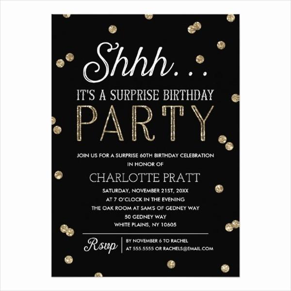 Surprise Birthday Party Invitation Template Unique 81 Invitations