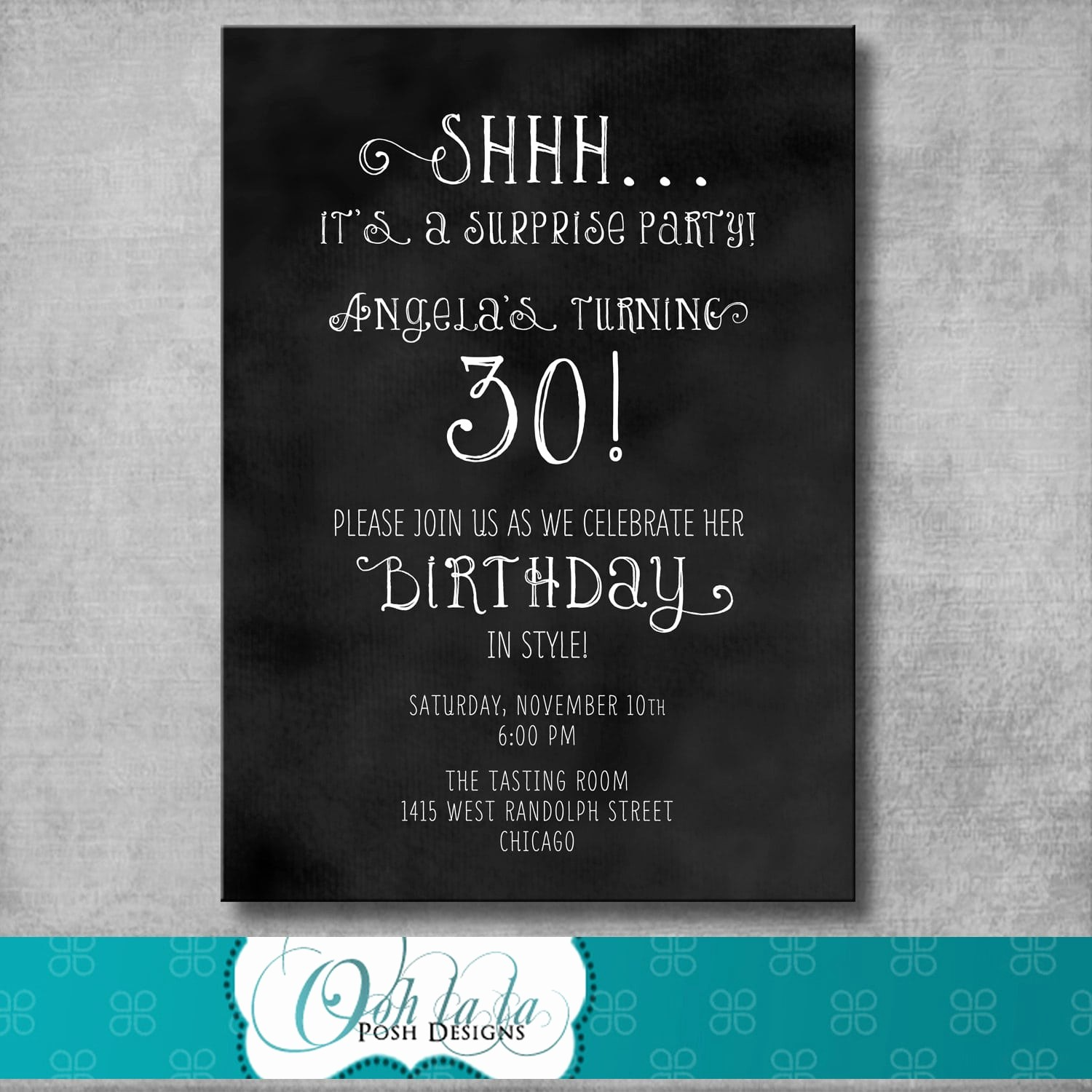 Surprise Birthday Party Invitation Template Unique Free Printable Surprise Party Invitation Template