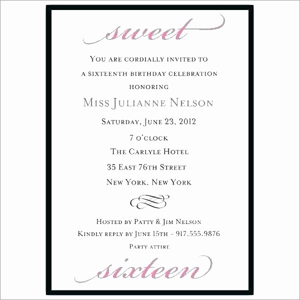 Sweet 16 Guest List Template Awesome 96 Sweet 16 Guest List Template top Free Graduation