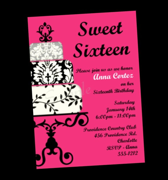 Sweet 16 Guest List Template Awesome Sweet 16 Birthday Invitation Templates Free