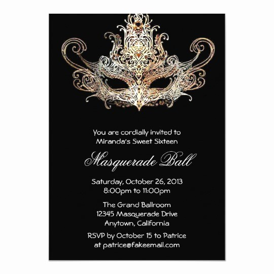 Sweet 16 Guest List Template Beautiful Custom Sweet Sixteen Masquerade Ball Invitations