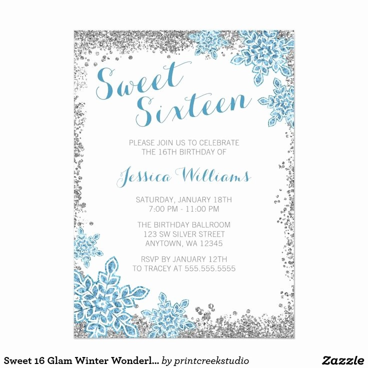 Sweet 16 Guest List Template Best Of 10 Best Images About Winter Wonderland Sweet 16 Ideas On