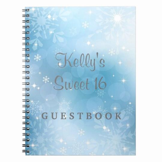 Sweet 16 Guest List Template Best Of Snowflakes Sweet 16 Wonderland Guest Book