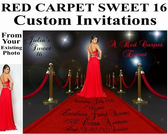 Sweet 16 Guest List Template Fresh Red Carpet Invitations Sweet 16 Birthday Bridal Shower Custom