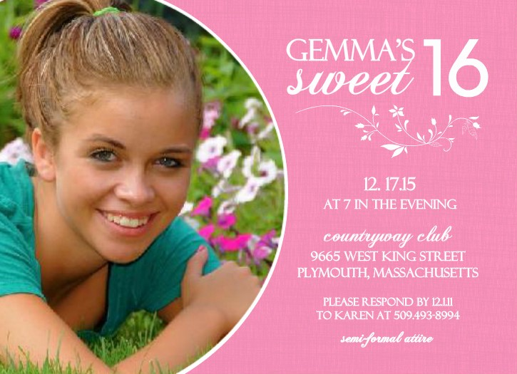Sweet 16 Guest List Template New Sweet 16 Birthday Invitations Ideas – Bagvania Free