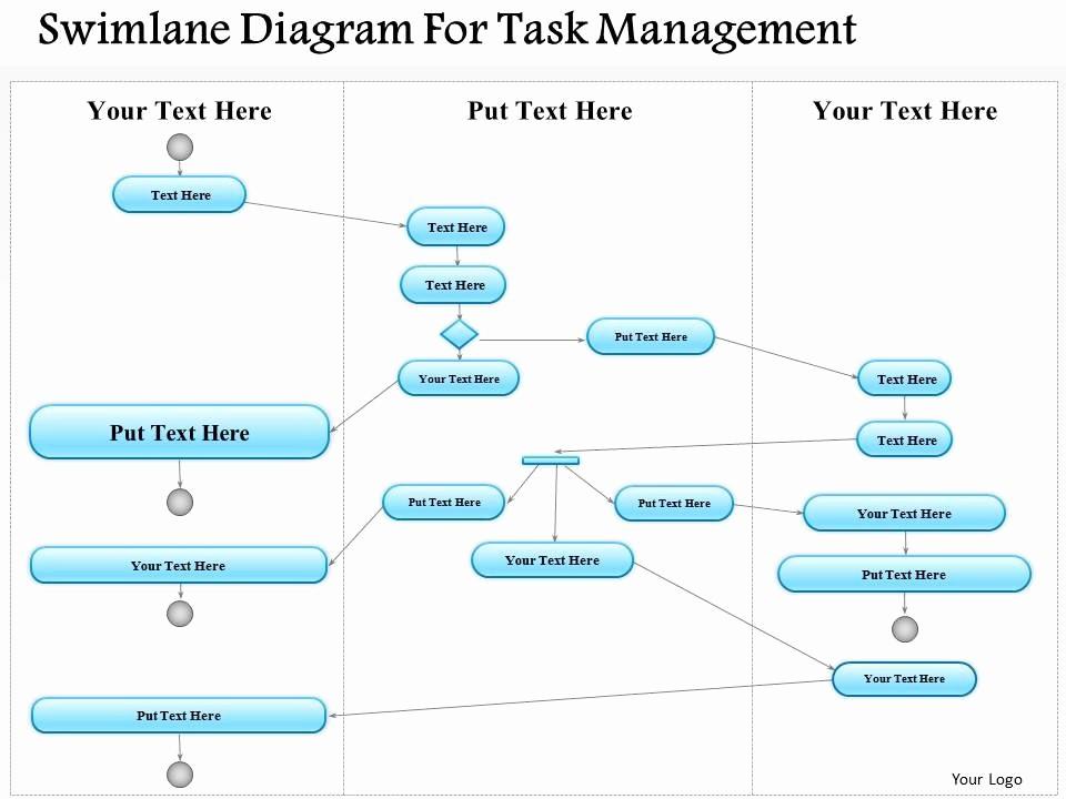 Swim Lane Diagram Ppt Template Awesome 0814 Business Consulting Diagram Swimlane Diagram for Task