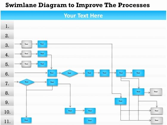 Swim Lane Diagram Ppt Template Awesome Swim Lane Diagram Template Powerpoint