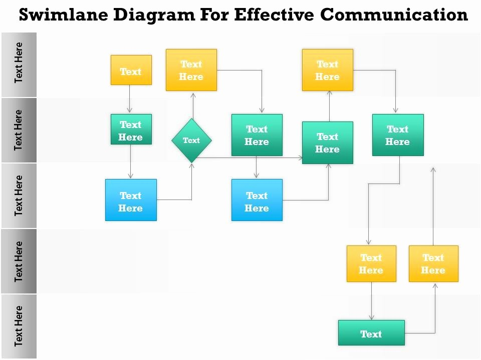 Swim Lane Diagram Ppt Template Awesome Swimlanes In Powerpoint Template 0814 Business Consulting
