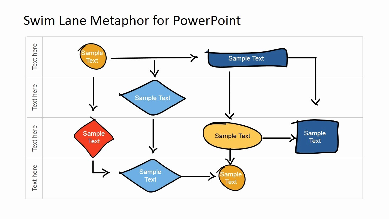 swim lane diagram powerpoint