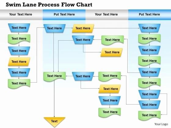 Swim Lane Diagram Ppt Template Inspirational Swimlane Template Powerpoint Cross Functional Flowchart