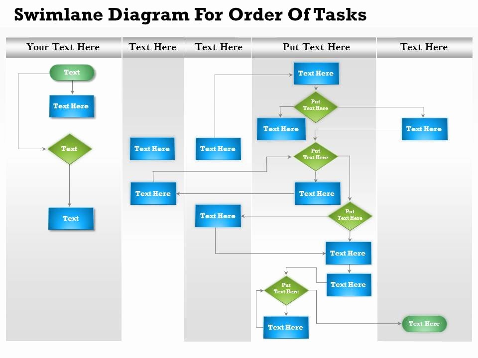 Swim Lane Diagram Ppt Template New 0814 Business Consulting Diagram Swimlane Diagram for