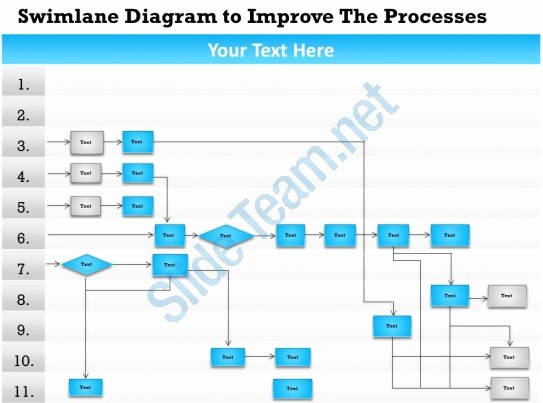 Swim Lane Diagram Ppt Template New Swimlanes In Powerpoint Template Bolducfo