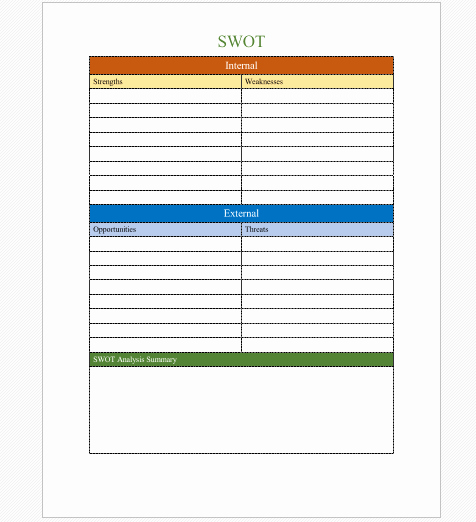 Swot Analysis Template Microsoft Word Lovely 20 Creative Swot Analysis Templates Word Excel Ppt and