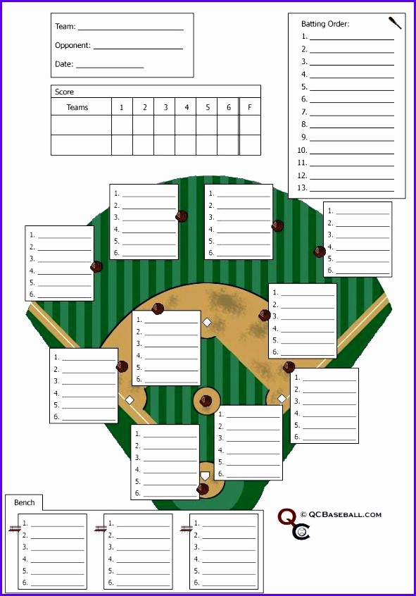 T Ball Snack Schedule Template Beautiful 12 Baseball Lineup Excel Template Exceltemplates