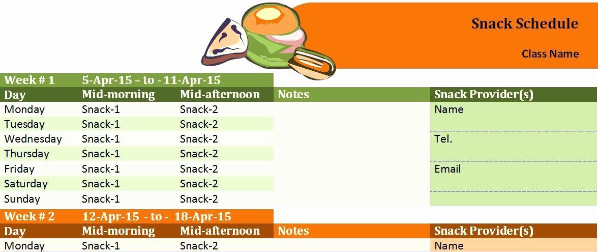 T Ball Snack Schedule Template Beautiful Snack Schedule Template – Superscripts