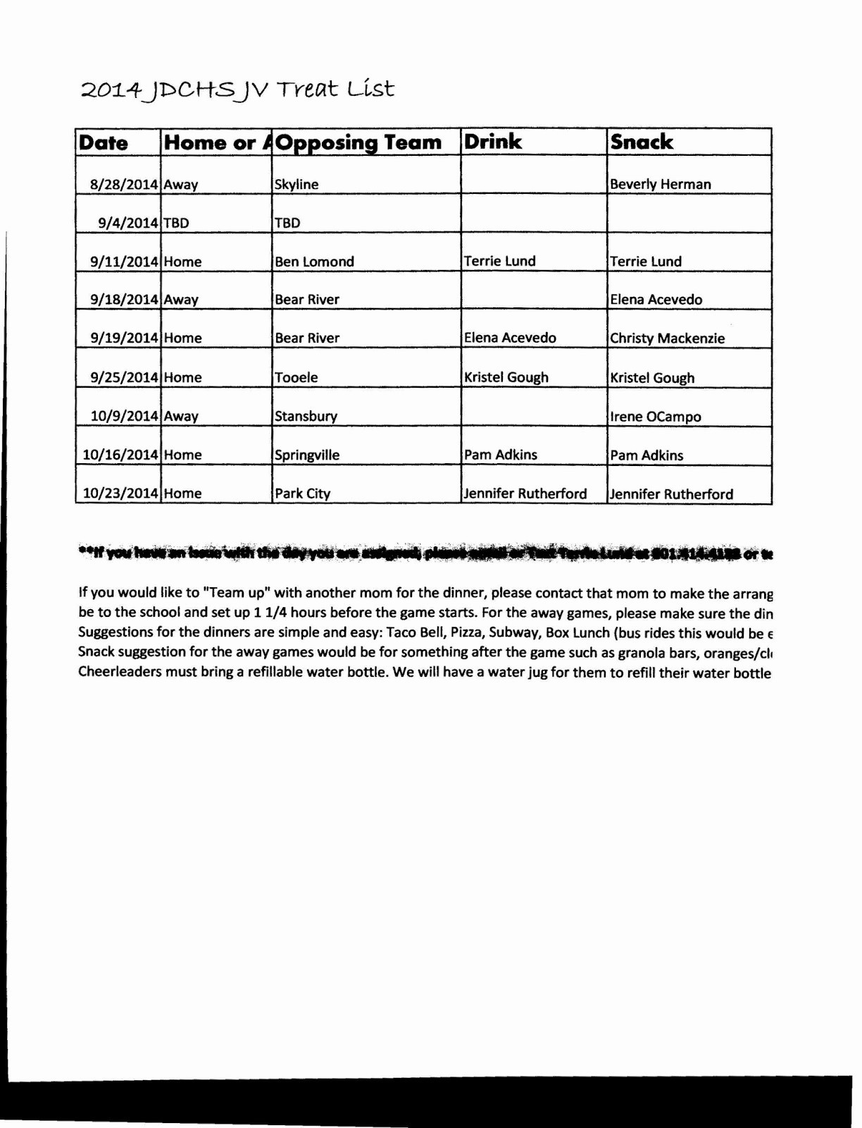 T Ball Snack Schedule Template Best Of Team Snack Schedule Template Here is Link for