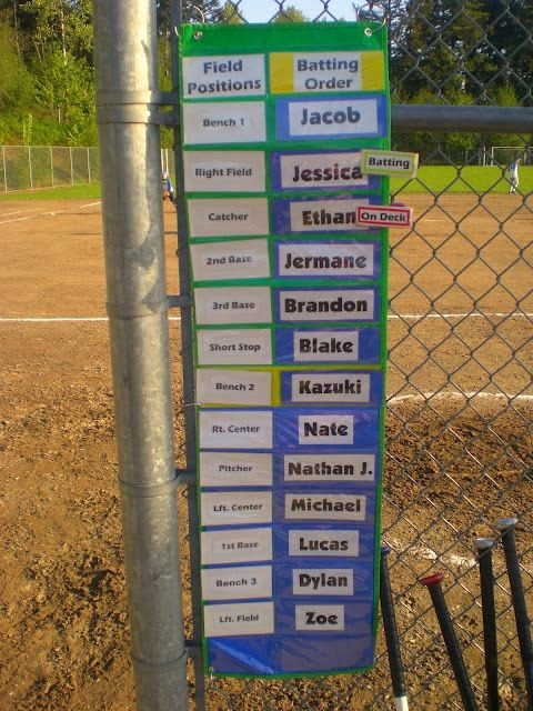 T Ball Snack Schedule Template Elegant Awesome Idea for Baseball T Ball Dugout organization
