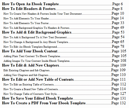 Table Of Contents Blank Template Best Of Blank Table Of Contents Template