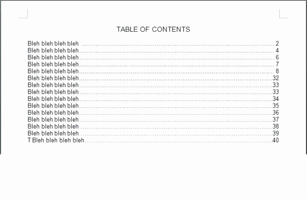 Table Of Contents Blank Template Best Of Floridaframeandart
