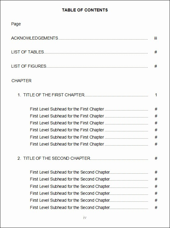 Table Of Contents Excel Template New 10 Free Table Of Content Templates – Pdf Word Excel