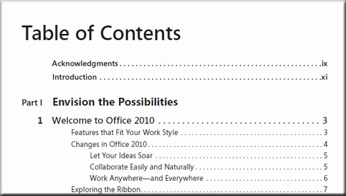 Table Of Contents Sample Page Awesome Table Of Contents – Pdf Index Generator