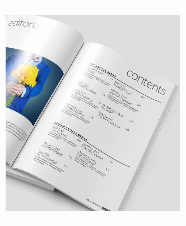 Table Of Contents Template Pdf Beautiful Table Contents Template 10 Free Word Pdf Psd