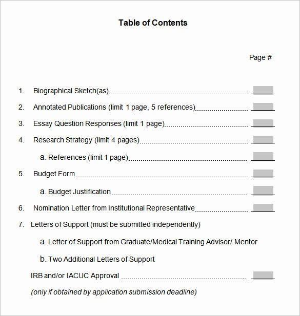 Table Of Contents Template Pdf Inspirational 22 Table Of Contents – Pdf Doc