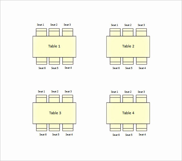 Table Seating Chart Template Free Awesome 34 Wedding Seating Chart Templates Pdf Doc