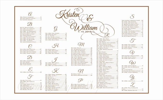 Table Seating Chart Template Free Best Of Wedding Seating Chart Template