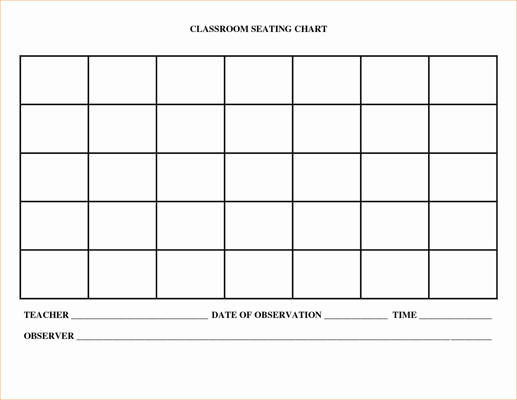 Table Seating Chart Template Free Elegant 7 Free Chart Templates