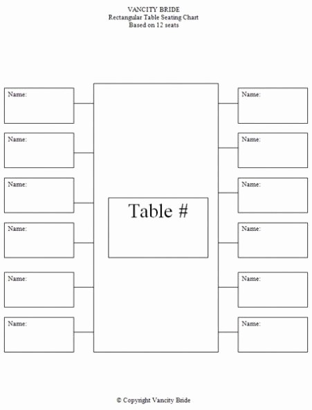 Table Seating Chart Template Free Fresh Free Individual Table Seating Charts