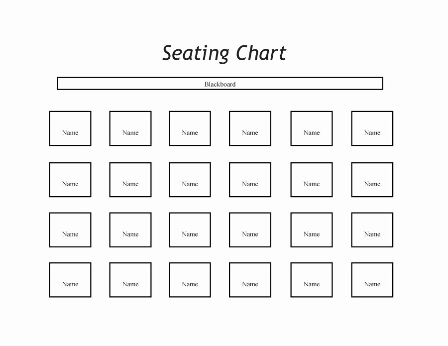 Table Seating Chart Template Free Inspirational 40 Great Seating Chart Templates Wedding Classroom More