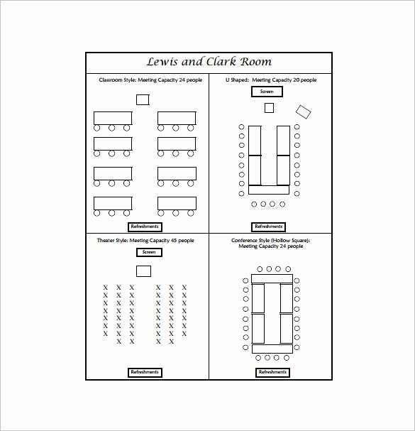 Table Seating Chart Template Free Unique 24 Seating Chart Templates Doc Pdf