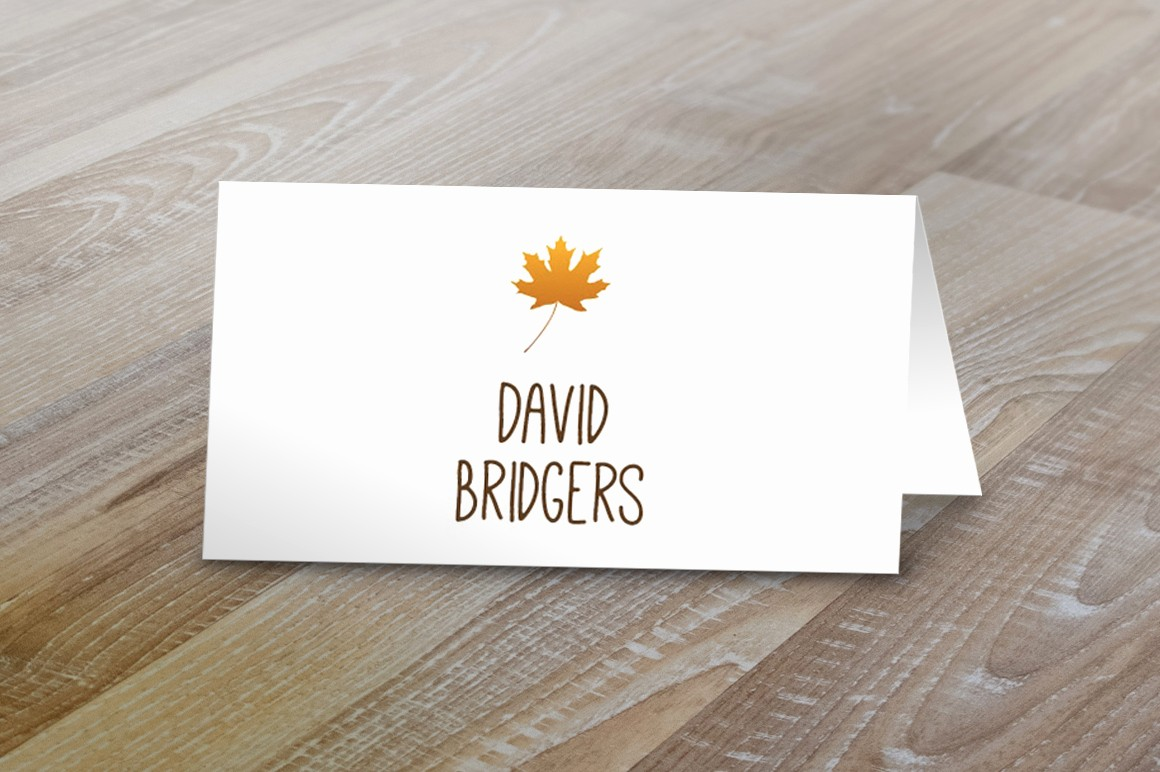 Table Tent Name Cards Template Beautiful Fall Table Tent Name Cards Card Templates On Creative Market