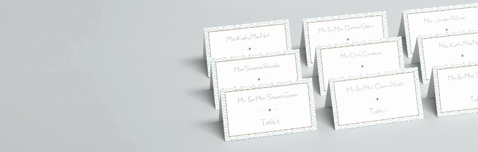 Table Tent Name Cards Template Beautiful Tent Card Standard Size Cards Custom Printed Table Place