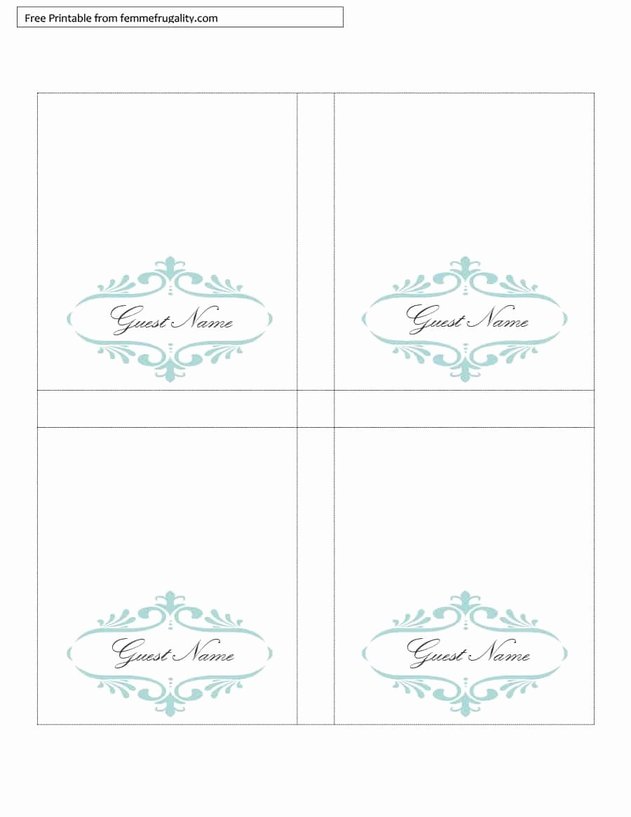 Table Tent Name Cards Template Best Of Table Tent Template Word