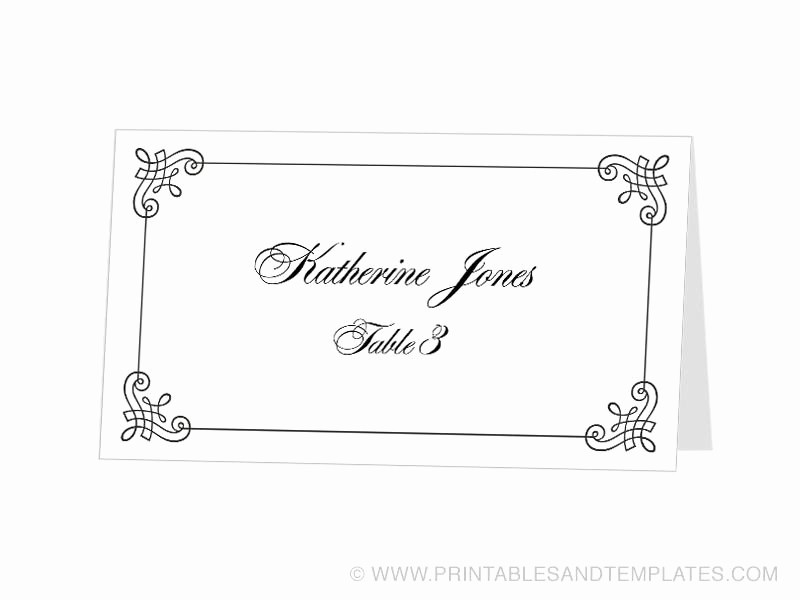 Table Tent Name Cards Template Fresh Tent Card Template