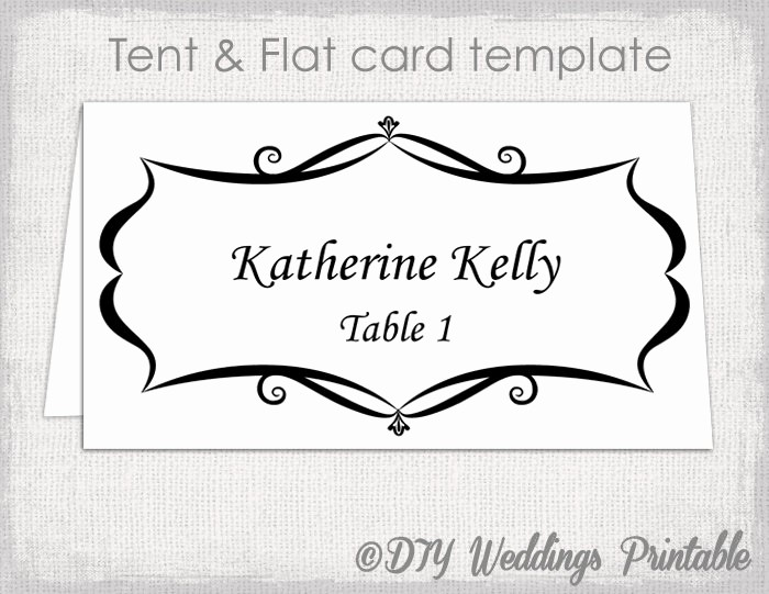 Table Tent Name Cards Template Inspirational Place Card Template Tent and Flat Name Card Templates
