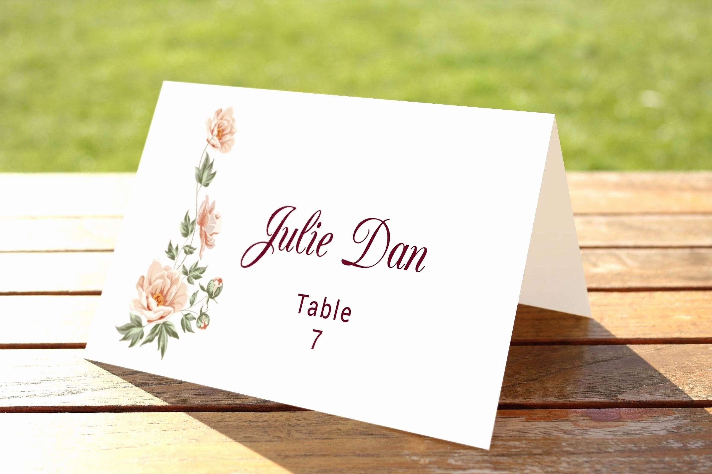 Table Tent Name Cards Template Lovely Genuine Microsoft Tent Card Template