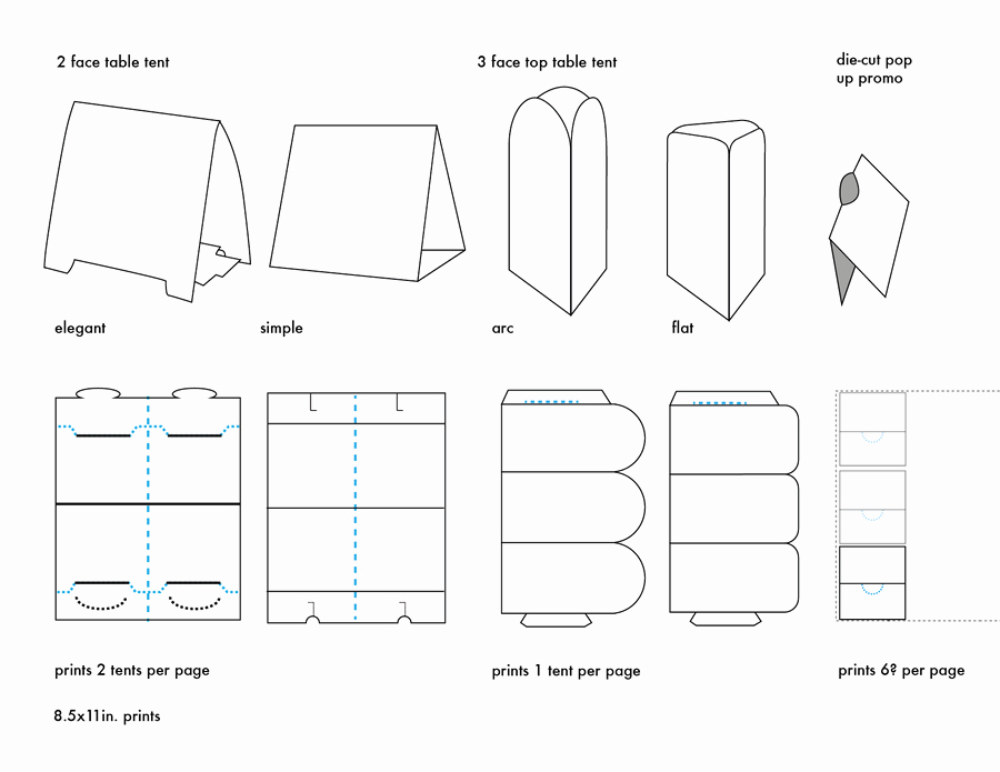 Table Tent Name Cards Template New Table Tents Printing Uk