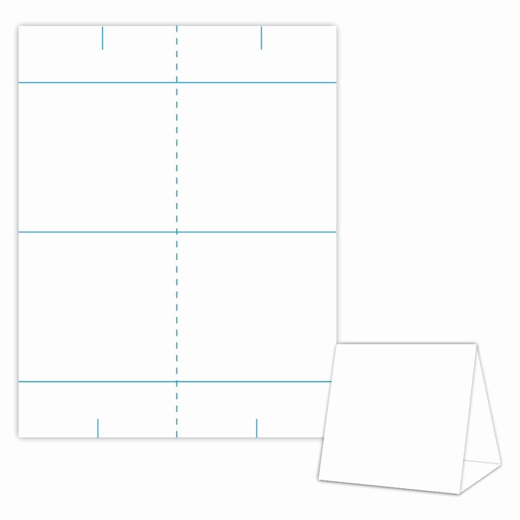 Table Tent Template Microsoft Word Awesome Table Tent Design Template Blank Table Tent White