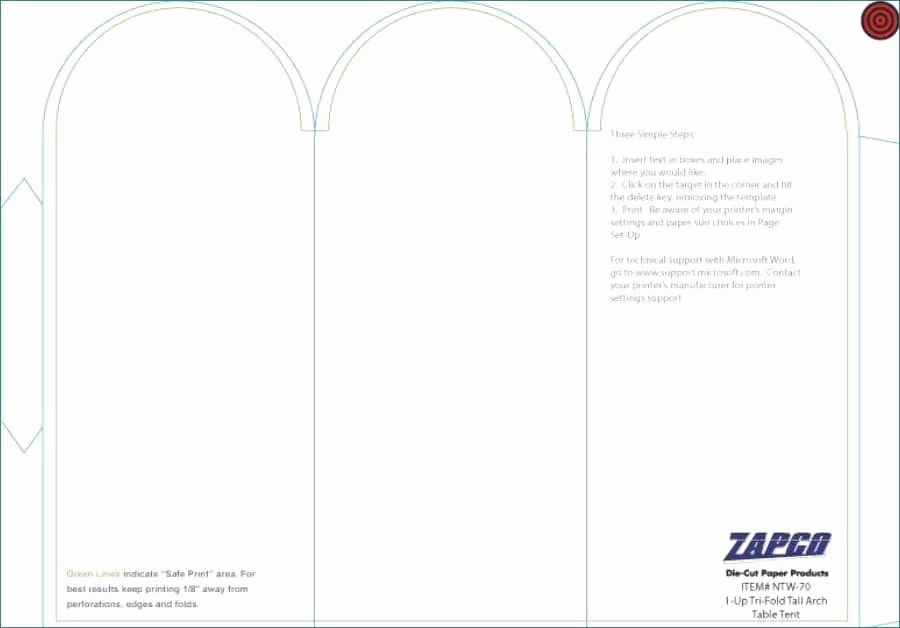 Table Tent Templates for Word Best Of ️ New Table Tent Template Indesign Templates