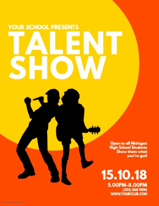 Talent Show Program Template Free Best Of Copy Of Talent Show Flyer Template