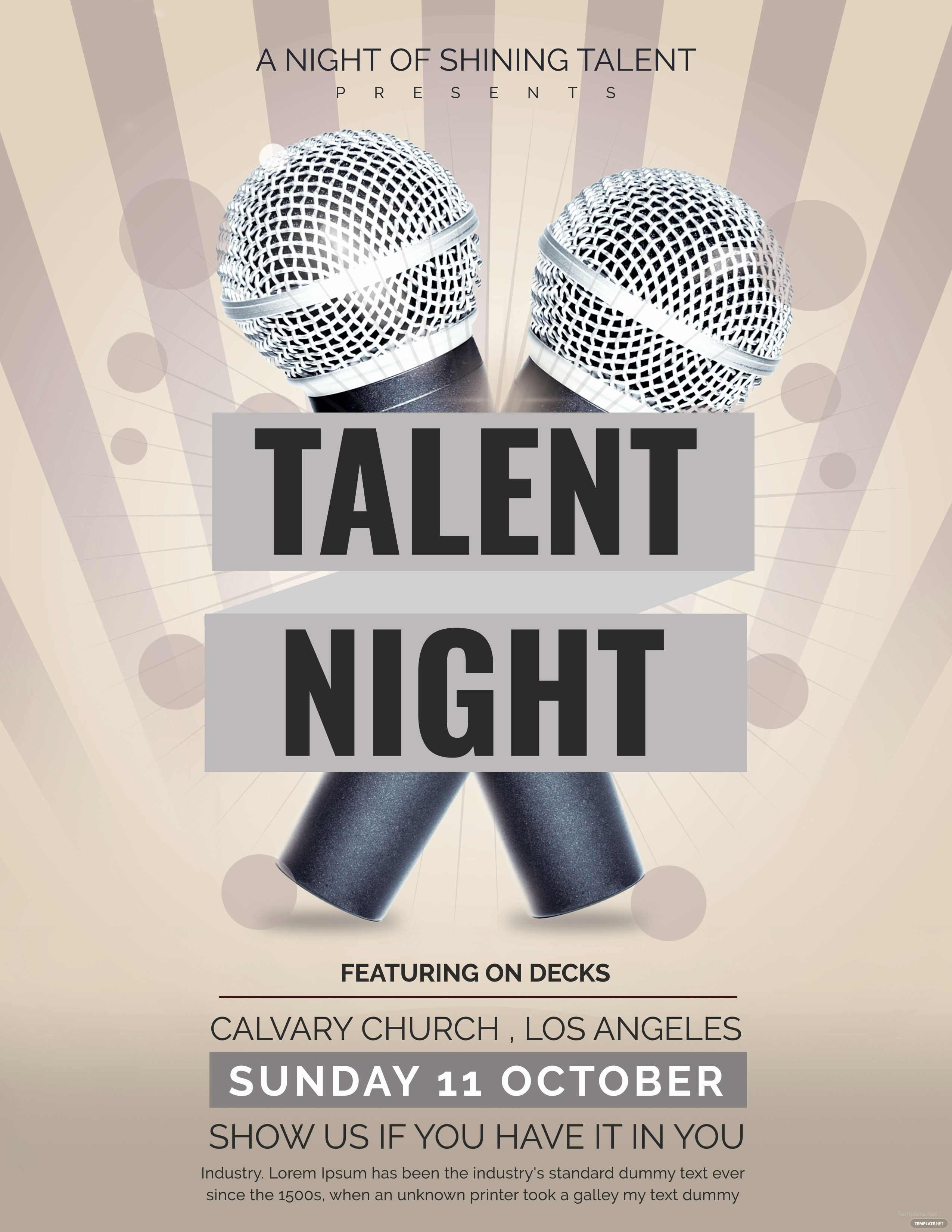 Talent Show Program Template Free Inspirational Free Talent Show Flyer Template In Adobe Shop