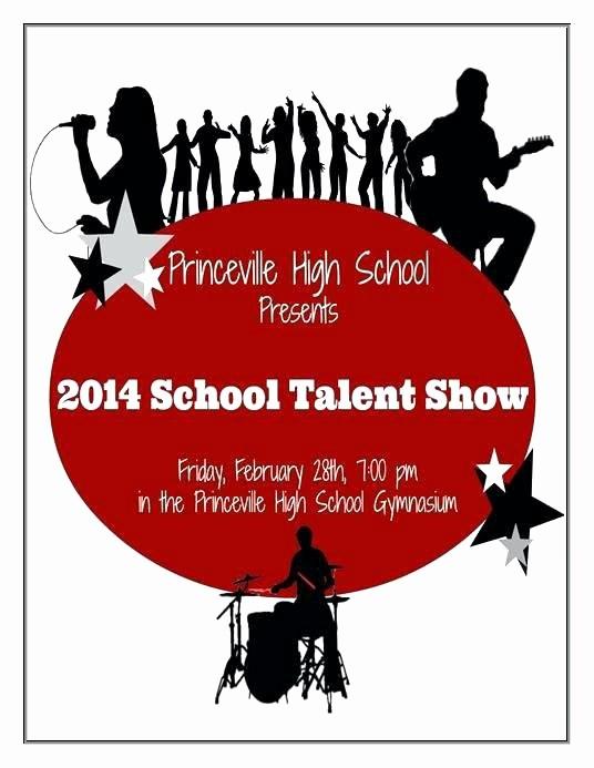 Talent Show Program Template Free New Talent Show Program Template Unique after School Program