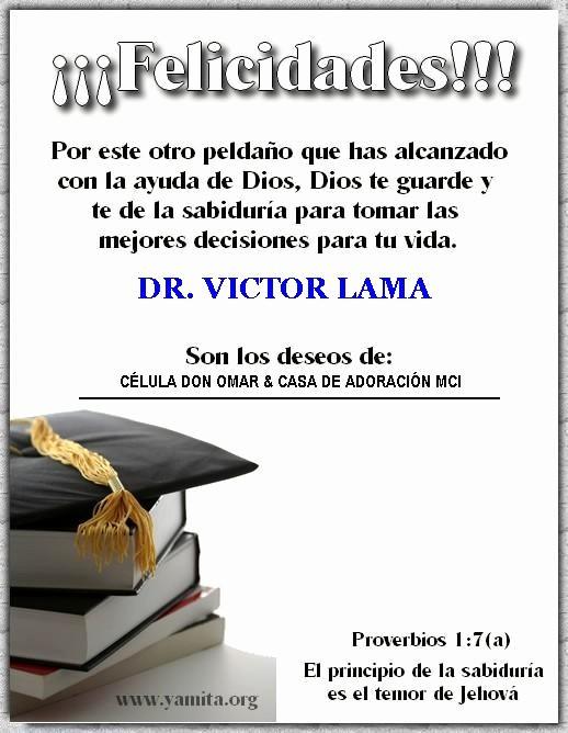 Tarjetas De Felicitaciones Para Graduacion Beautiful Célula Don Omar Felicidades A Nuestros Graduandos