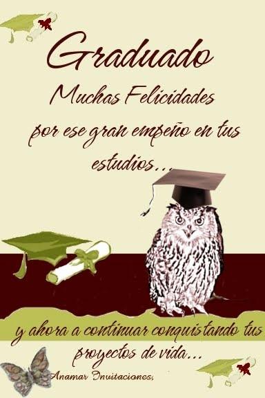 Tarjetas De Felicitaciones Para Graduacion Beautiful Postal Graduado
